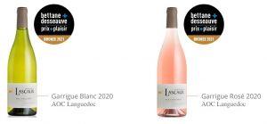 Garrigue Blanc et Garrigue Rosé récompensés au Prix Plaisir 2021